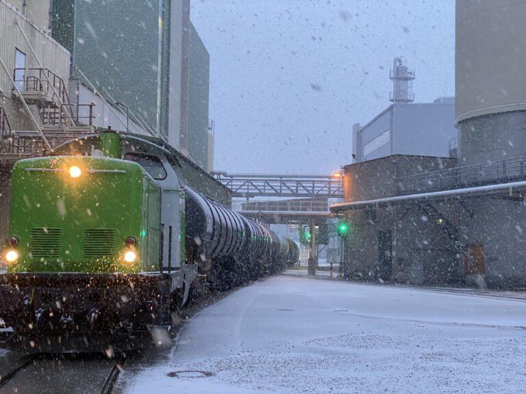 Zug mit Bioethanol