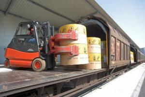Papier-Logistik, Unloading Wagon, Papier&Recycling Logistik GmbH, Vienna, 3.4.2007, krischanz.zeiller.